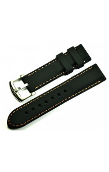 MARC & SONS Rubber strap black orange