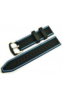 MARC & SONS Rubber strap black blue