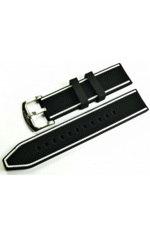 MARC & SONS Rubber strap black white