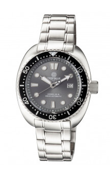 Military Diver Grey 300 Swiss Automatic Steel Band