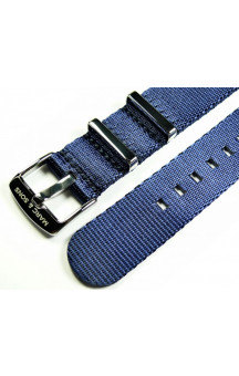 MARC & SONS Herringbone Nato strap color blue