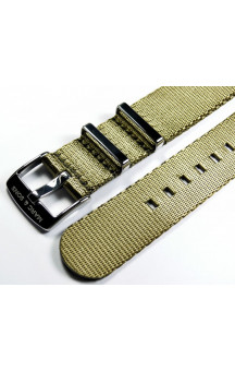 MARC & SONS Herringbone Nato strap color army green
