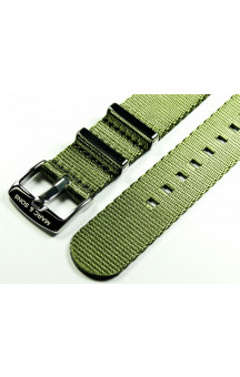 Herringbone Nato strap color olive green