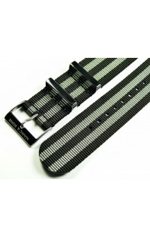 MARC & SONS Nato strap color black gray