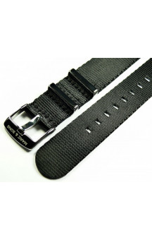 MARC & SONS Herringbone Nato strap color black