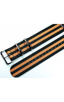 MARC & SONS Nato strap color black orange