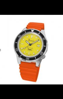 Squale 1521-026 Orange Rubberband Yellow Face