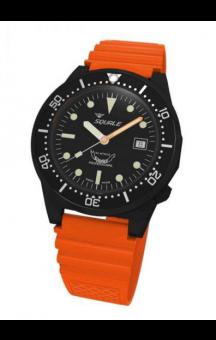 Squale 1521-026  PVD Orange Rubberband