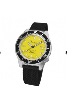 Squale 1521-026 PVD Steelband Yellow Face