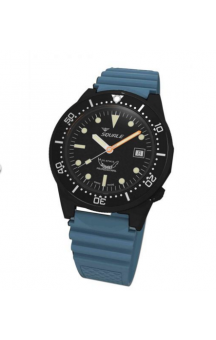 Squale 1521-026  PVD Blue Rubberband