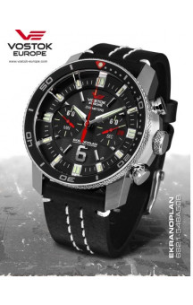 Vostok Europe Ekranoplan Chronograph 546A508 Leather