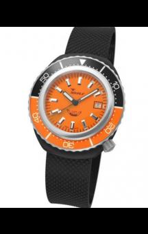 Squale 2002 101 Black Rubberband Orange