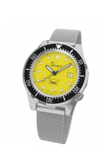 Squale 1521-026 Steelband Yellow Face