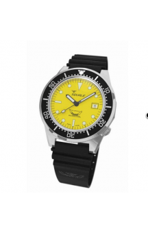Squale 1521-026 Black Rubberband Yellow Face