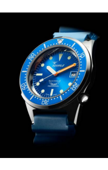 Squale 1521-026  Blue Face Black Rubberband