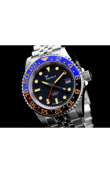 Squale  Blue/Red Vintage GMT Cermica