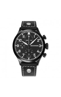 Archimede Pilot Chronograph PVD . LS