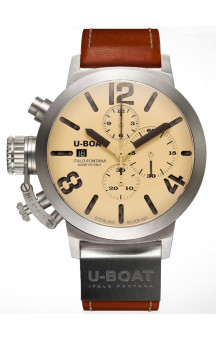 U-Boat Classico 6918 Chronograph 48mm Sterling Silver 925er Limited Edition