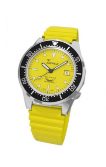 Squale 1521-026 Yellow Rubberband Yellow Face