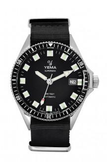 Yema Superman Automatic YMHF1550A-AS24 Black Natostrap