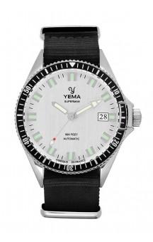 Yema Superman Automatic Silver YMHF1550A-FS11 Black Natostrap