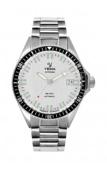 Yema Superman Automatic Silver YMHF1550A-FS11 Steel Bracelet