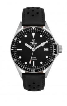 Yema Superman Automatic Swell YMHF1556A-AM Black Leatherstrap