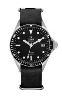 Yema Superman Automatic Swell YMHF1556A-AM Nato Black Leatherstrap